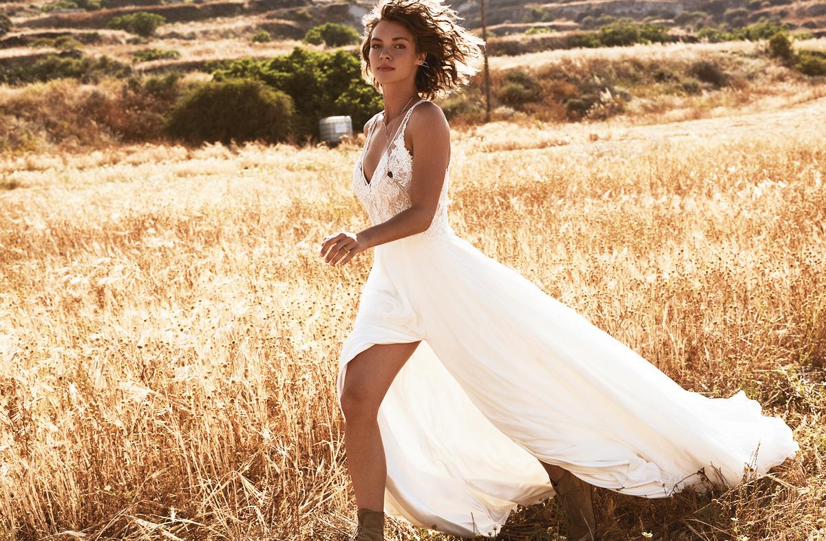 Wedding Dress Trends Tea Length Bateau Light Pink And